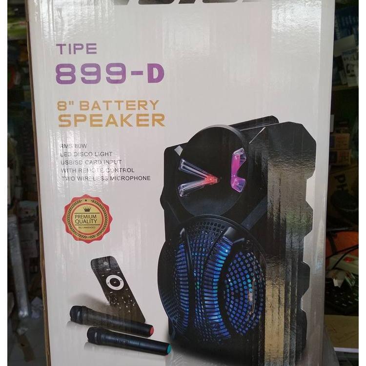 ... SPEAKER NOISE MEETING 899 D 2 MIC WIRELESS GENGGAM 8 INCH - 3