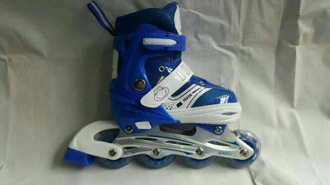Sepatu Roda Anak Power Inline Skate RODA NYALA Biasa di set serperti roda  bajaj 5a029b3283