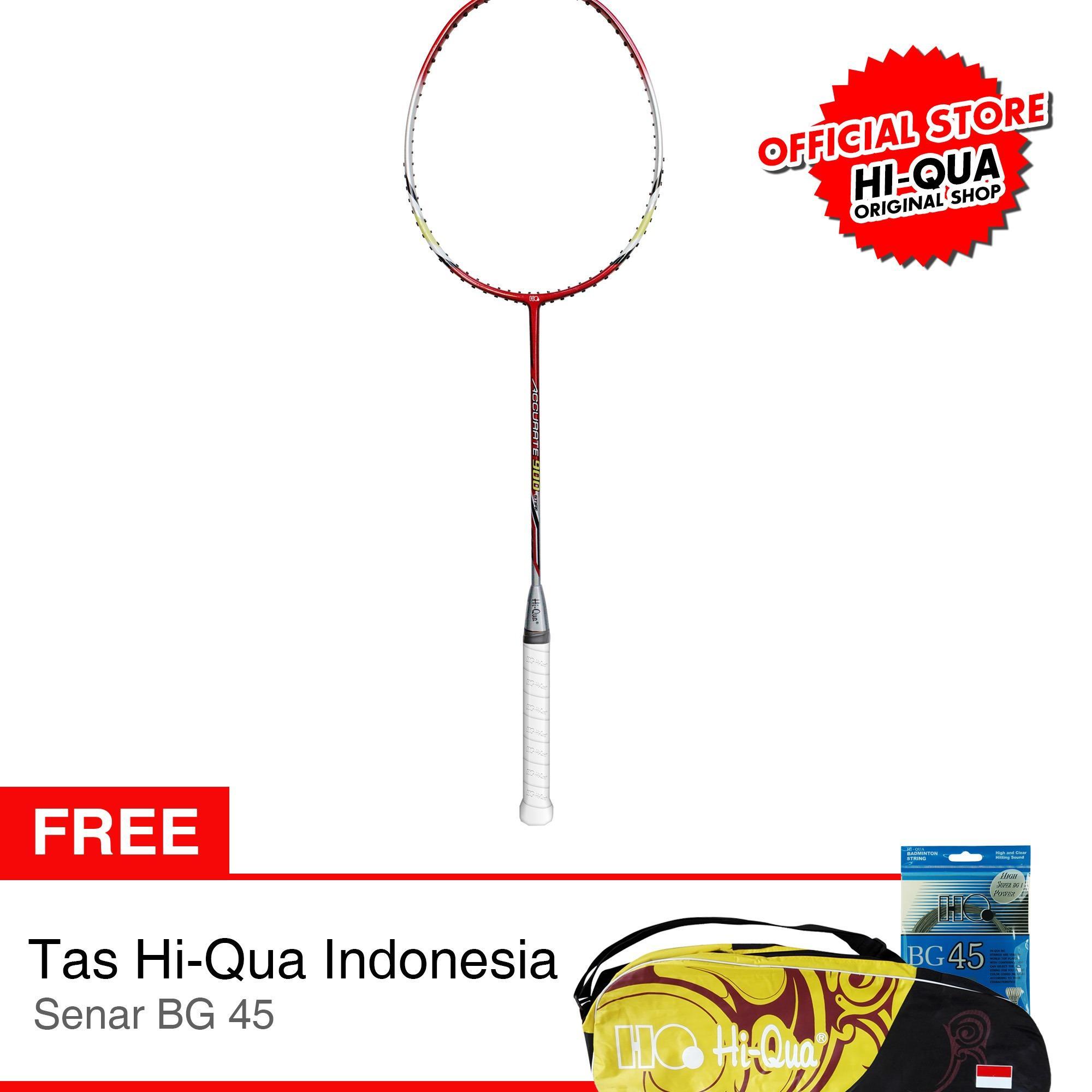 Harga Paket Hi Qua Raket Bulutangkis Badminton Accurate B1G4 New