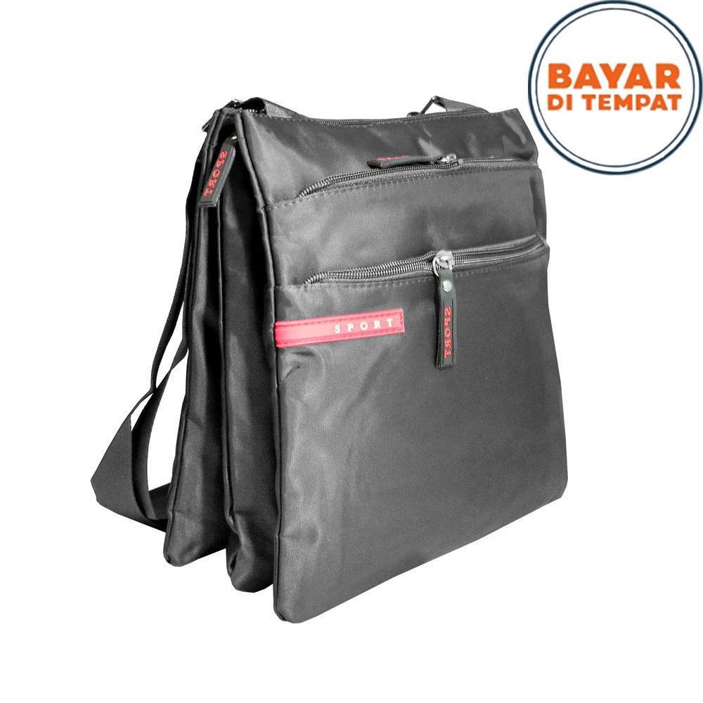 Sport Tas Selempang Pria Office Note Book 10 Inchi Pu Leather Dj002 Black Terbaru