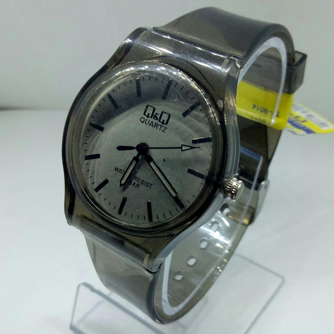 QQ original watch - jam tangan wanita casual QQ Transparan - rubber strap - water resist