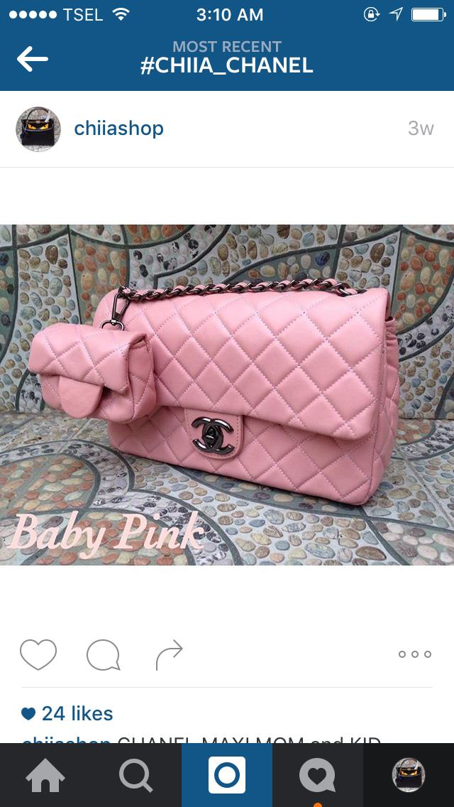 Chanel Maxi Anak Super Baby Pink