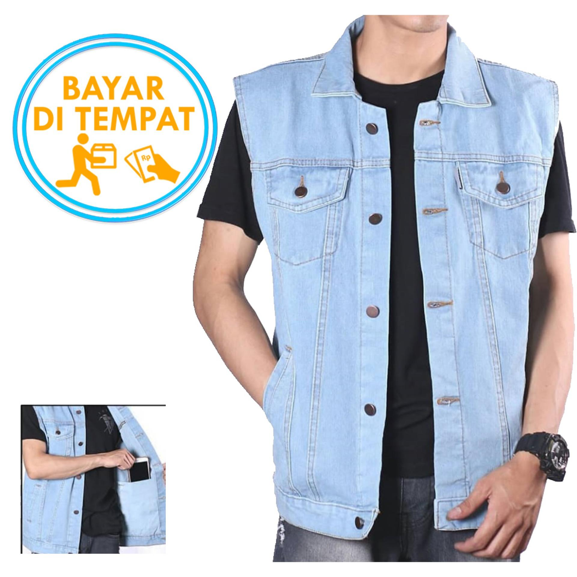Vest Rompi Jeans Premium Light Blue Best Seller Promo Beli 1 Gratis 1