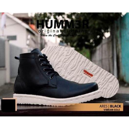 Sepatu Pria Boots Casual Vibram Sole - HUMMER ARES - Hitam