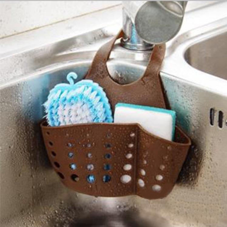 Gantungan Kran Wastafel Serbaguna Untuk Dapur Kamar Mandi Tempat Sabun Sponge Shampoo Sikat  Spons