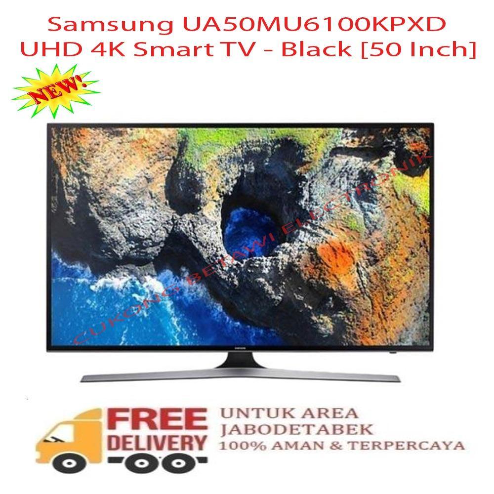 Samsung UA50MU6100KPXD UHD 4K Smart TV - Black [50 Inch] - KHUSUS JABODETABEK