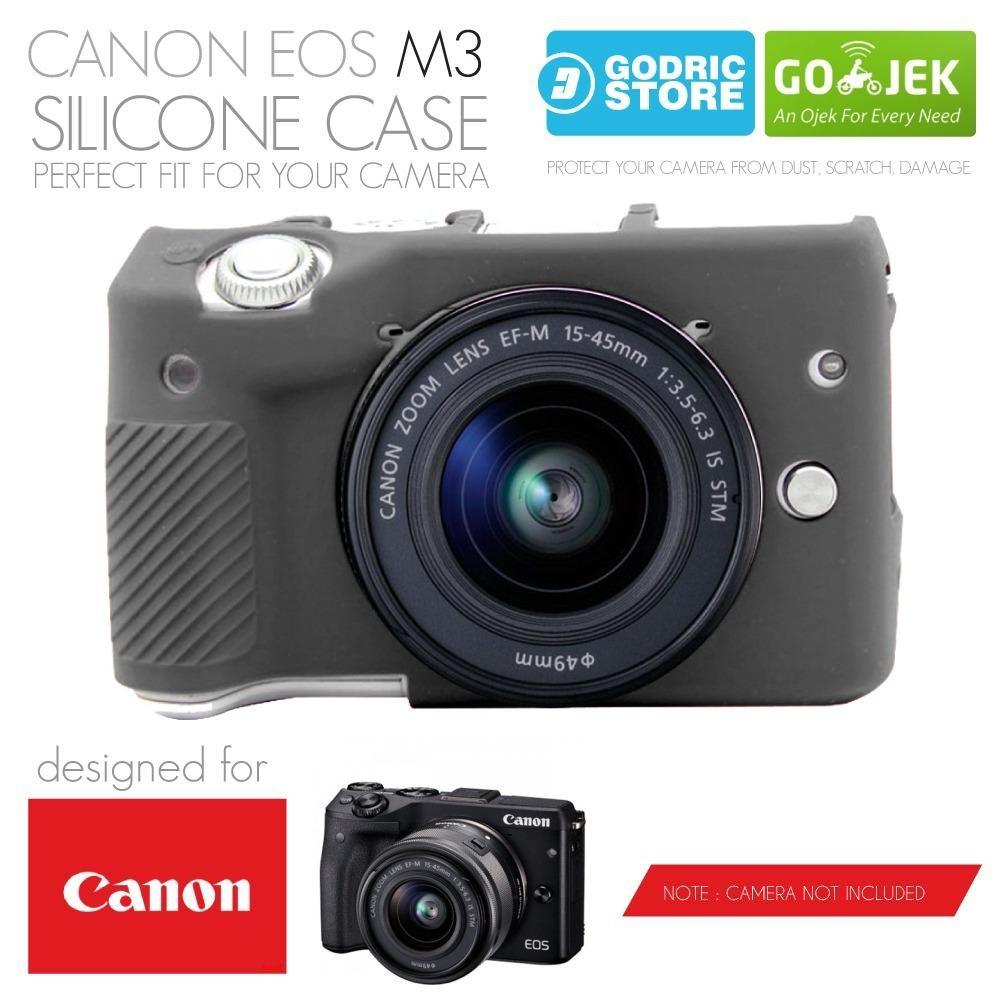 Harga Kamera Mirrorless Canon Eos M3 Terbaru Desember 2018 M10 Kit 1 15 45mm F 35 63 Is Stm Garansi Datascrip Hitam Godric Silicone Silikon Case Sarung Silicon