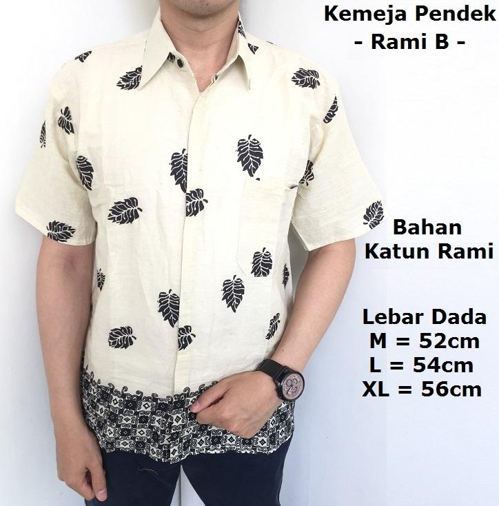 Atasan Hem Kemeja Batik Pria Lengan Pendek - Kemeja Kerja Pria - Kemeja Batik Katun Aneka