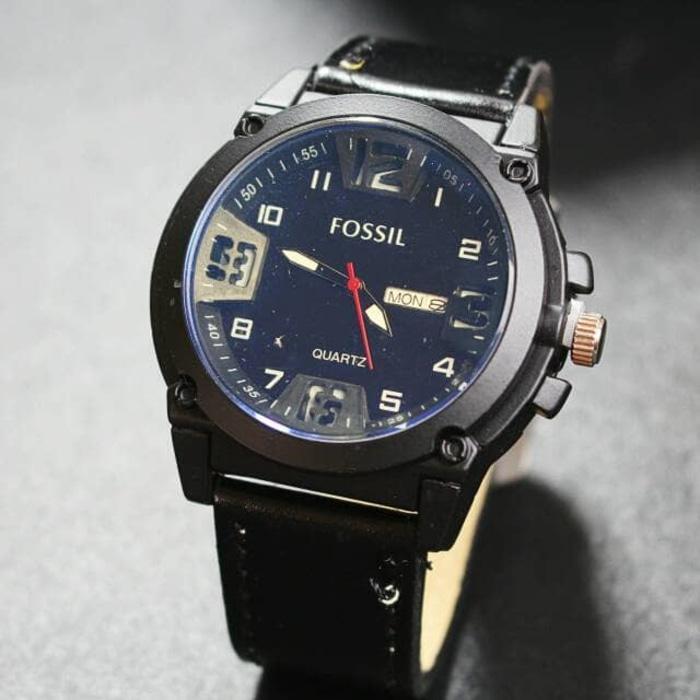 Galeri Gambar jam tangan daydate fossil pria murah / jtr 1056 hitam Lengkap