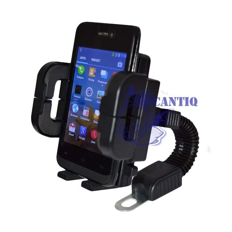QCF Phone Holder Motor Untuk HP / Tatakan Handphone GPS Holder Handphone Motorcycle Spion Holder Motor