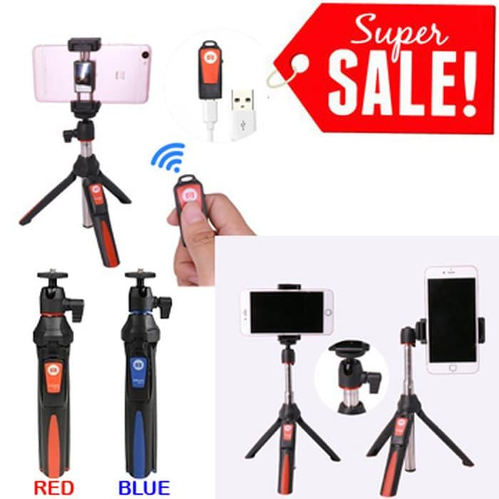 Detail Gambar Promo: Benro Mefoto Mk10 Bluetooth Selfie Stick Tripod Stabilizer 3In1 - ready stock Terkini