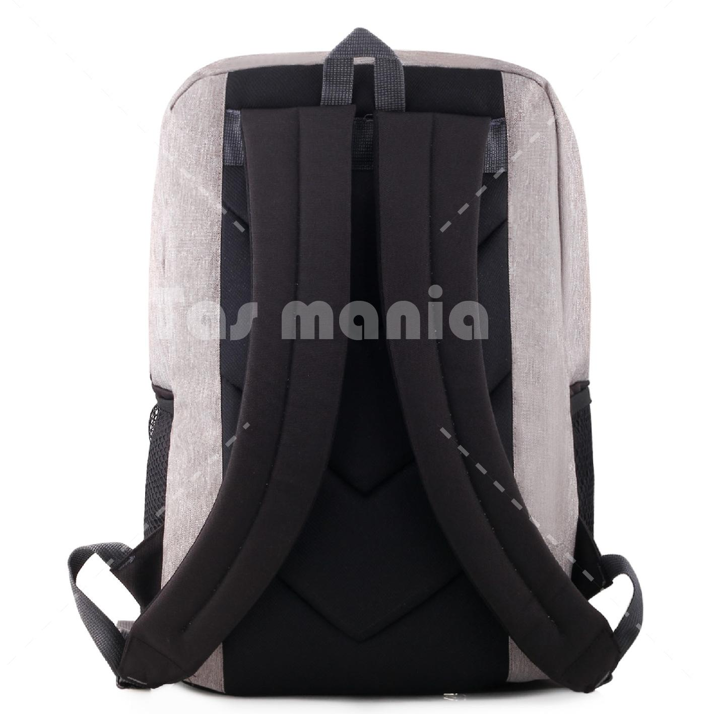 ... Tas Ransel Gear Bag Sylvester 2.0 Dailypack Tas Laptop Backpack - Grey + FREE Tas Selempang