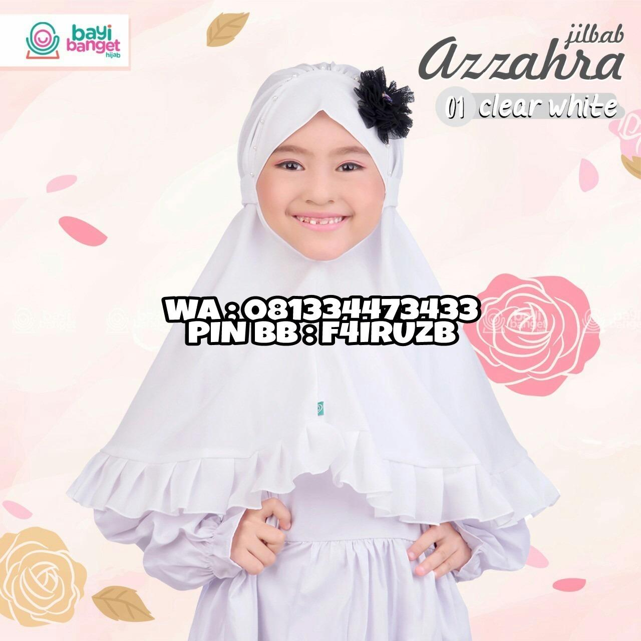 Fairuz Hijab, Jilbab Anak Perempuan, Hijab Instan Murah tali Belakang, Kerudung Anak Bayi warna Putih