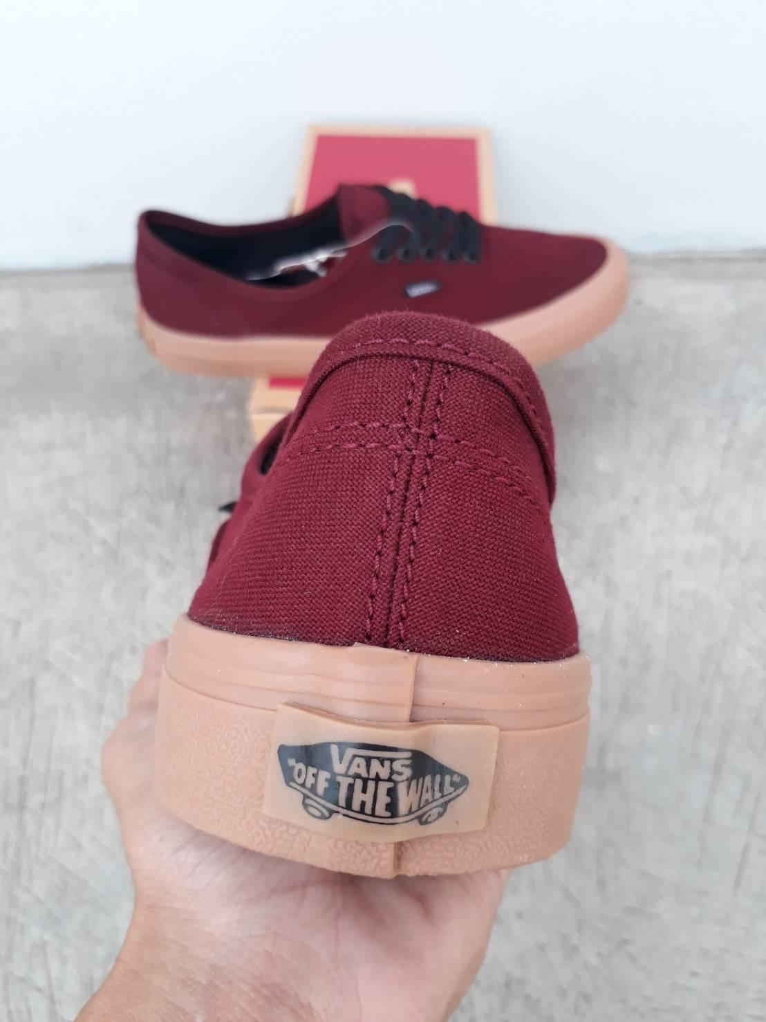 ... sepatu vans authentic maroon gum wafle ifc - 4 ...