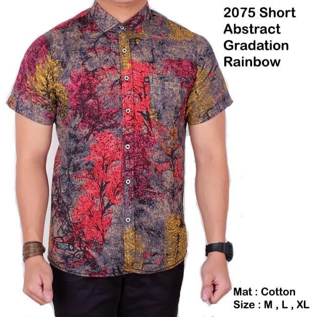 baju pria lengan pendek batik songket biru navy