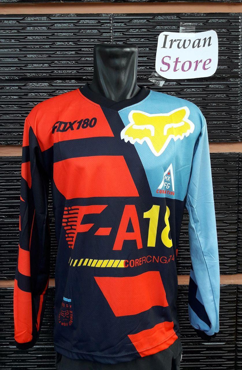 Kelebihan Baju Jersey Sepeda Fox F08 Motor Cross Terkini Oneal Biru Merah Downhill Lengan Panjang Motocross