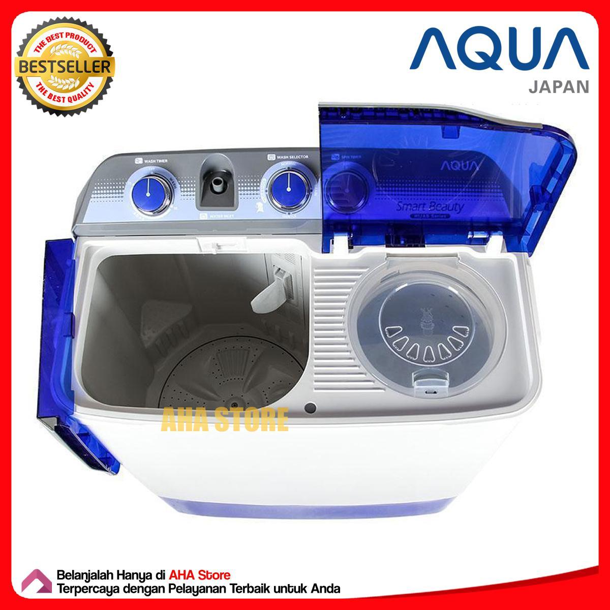 Aqua Mesin Cuci 2 Tabung Qw 770xt Khusus Jabodetabek Daftar Harga 12 Kg 1280xt Free Ongkir Area 8 880xt