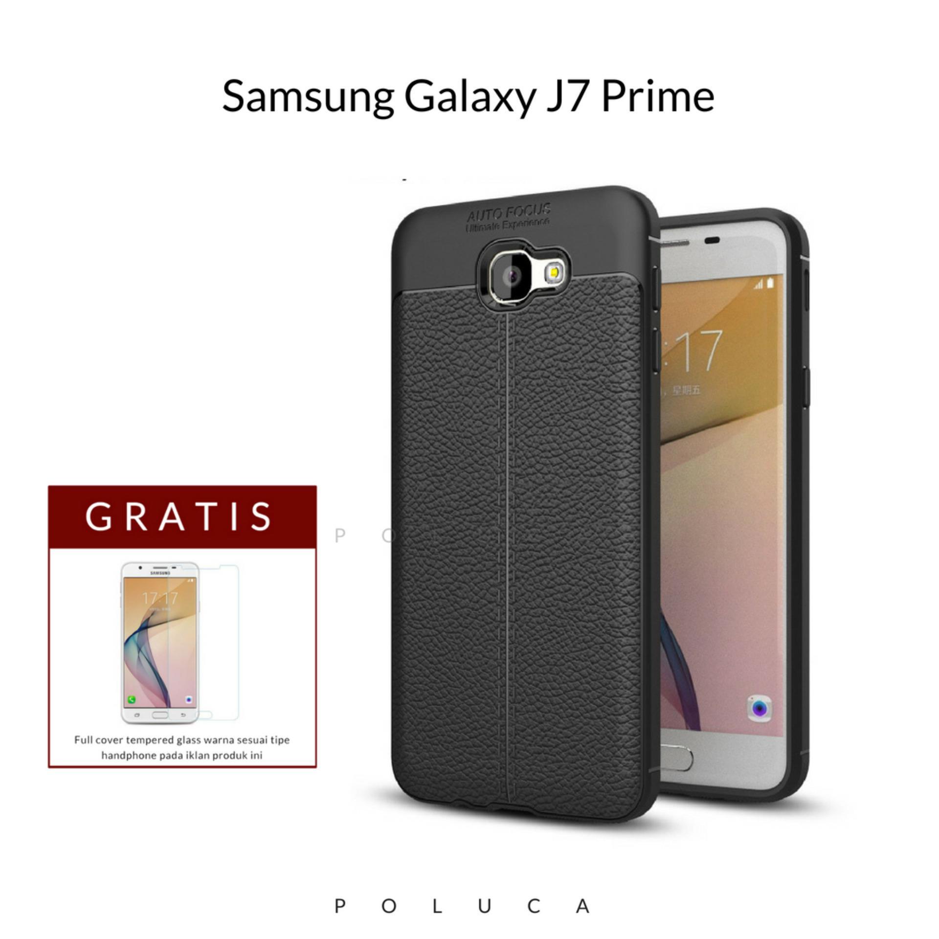 Poluca Luxury Case For Samsung Galaxy J7 Prime Ultimate Experience TPU Leather Autofocus - Black +