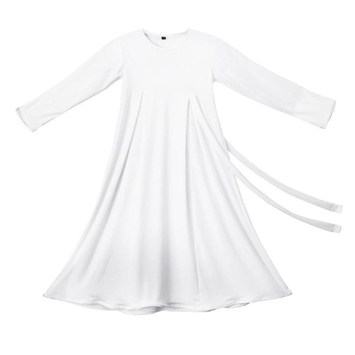 BAJUYULI - Baju Muslim Anak Perempuan Gamis Jersey Putih Putih MJT01 - 2 ...