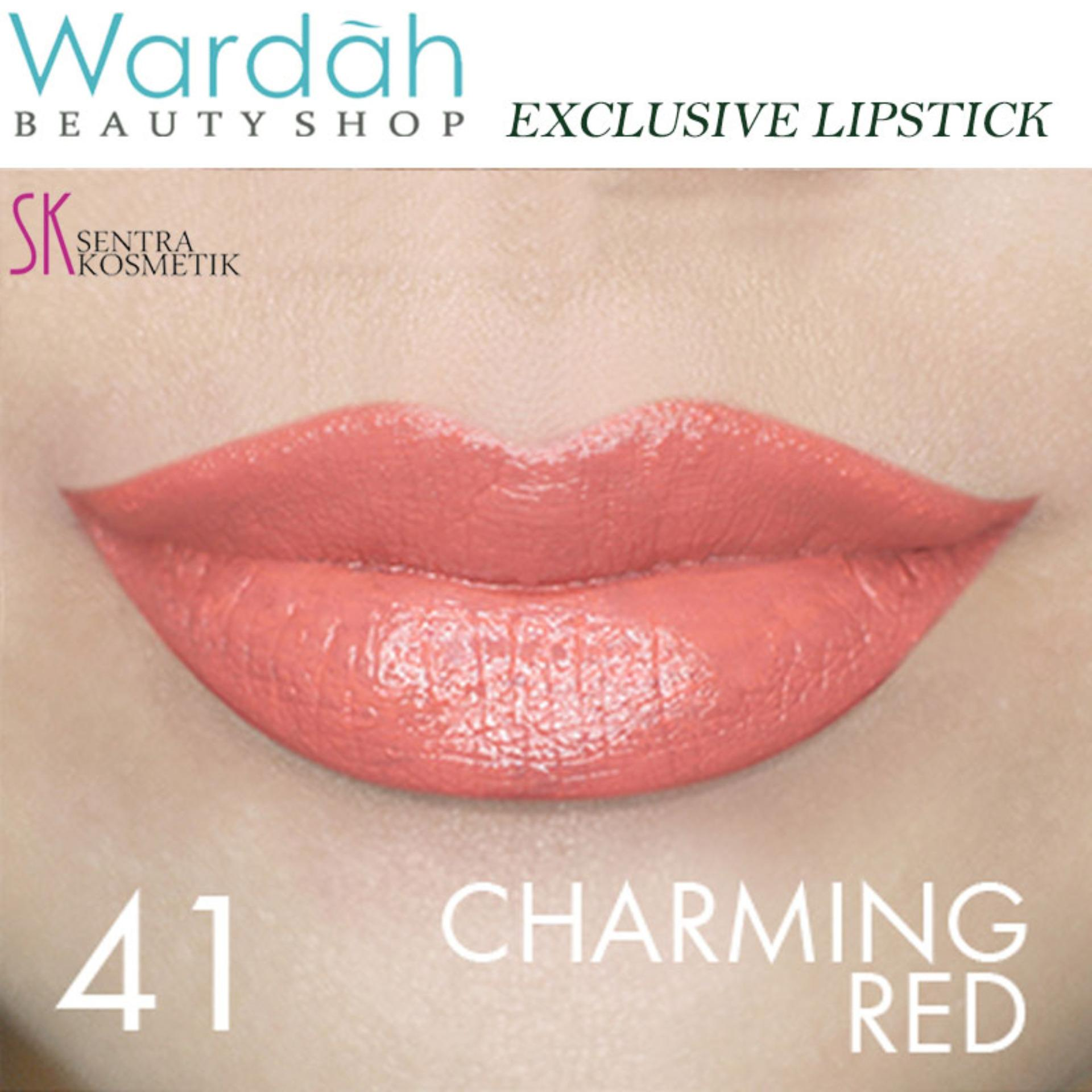 Wardah Exclusive Lipstick 41 - Charming Red