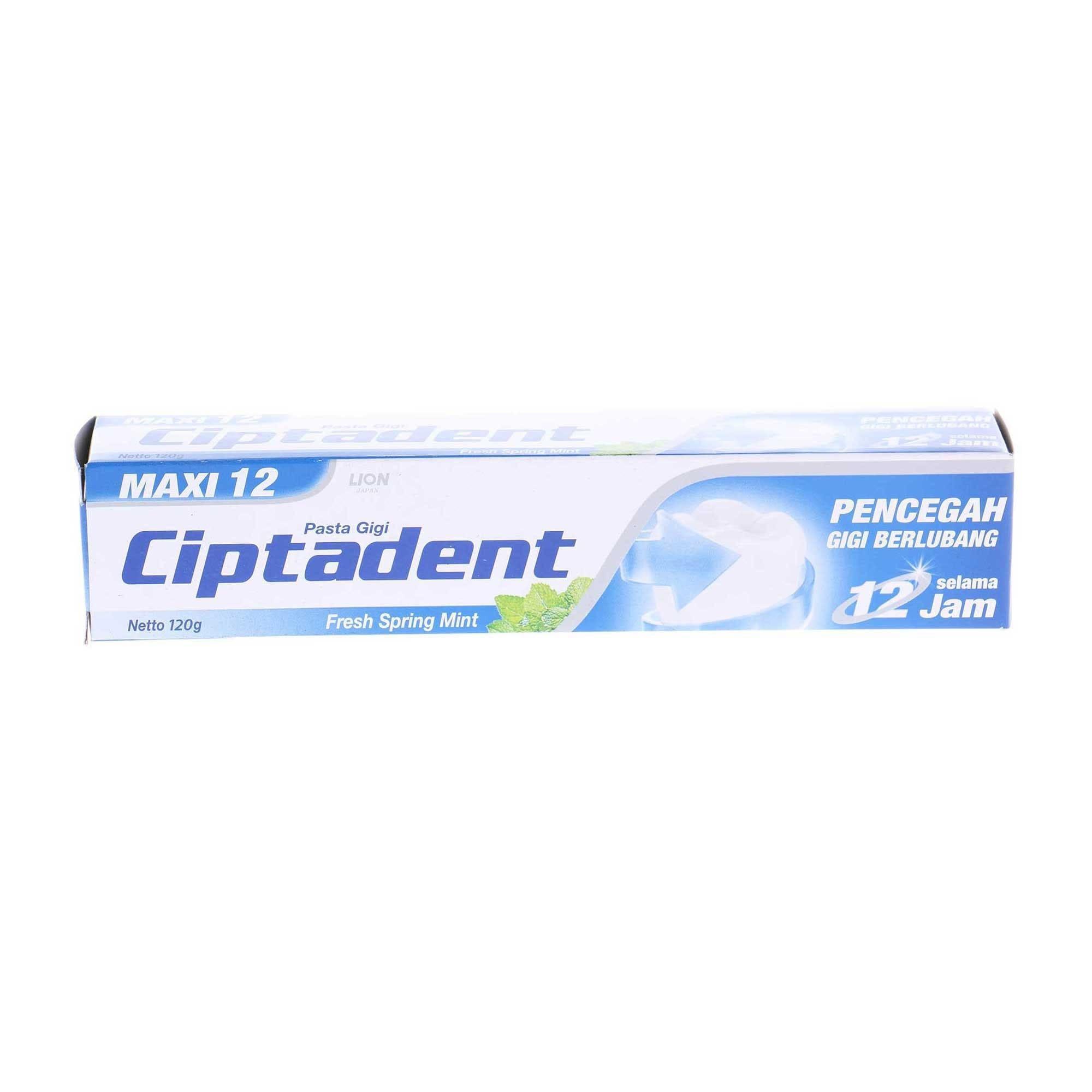 Pasta Gigi Ciptadent Maxi 12 Plus Cool Mint 120g Produk Terbaik Colgate Cavity Protection Fresh 180g 4 Pcs Spring