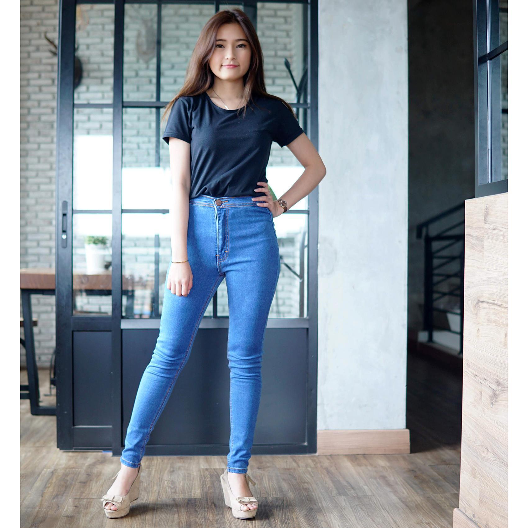 Rumah Jeans / Celana Jeans Highwaist Wanita / Highwaist Ocean Blue / HW Jeans Cewek