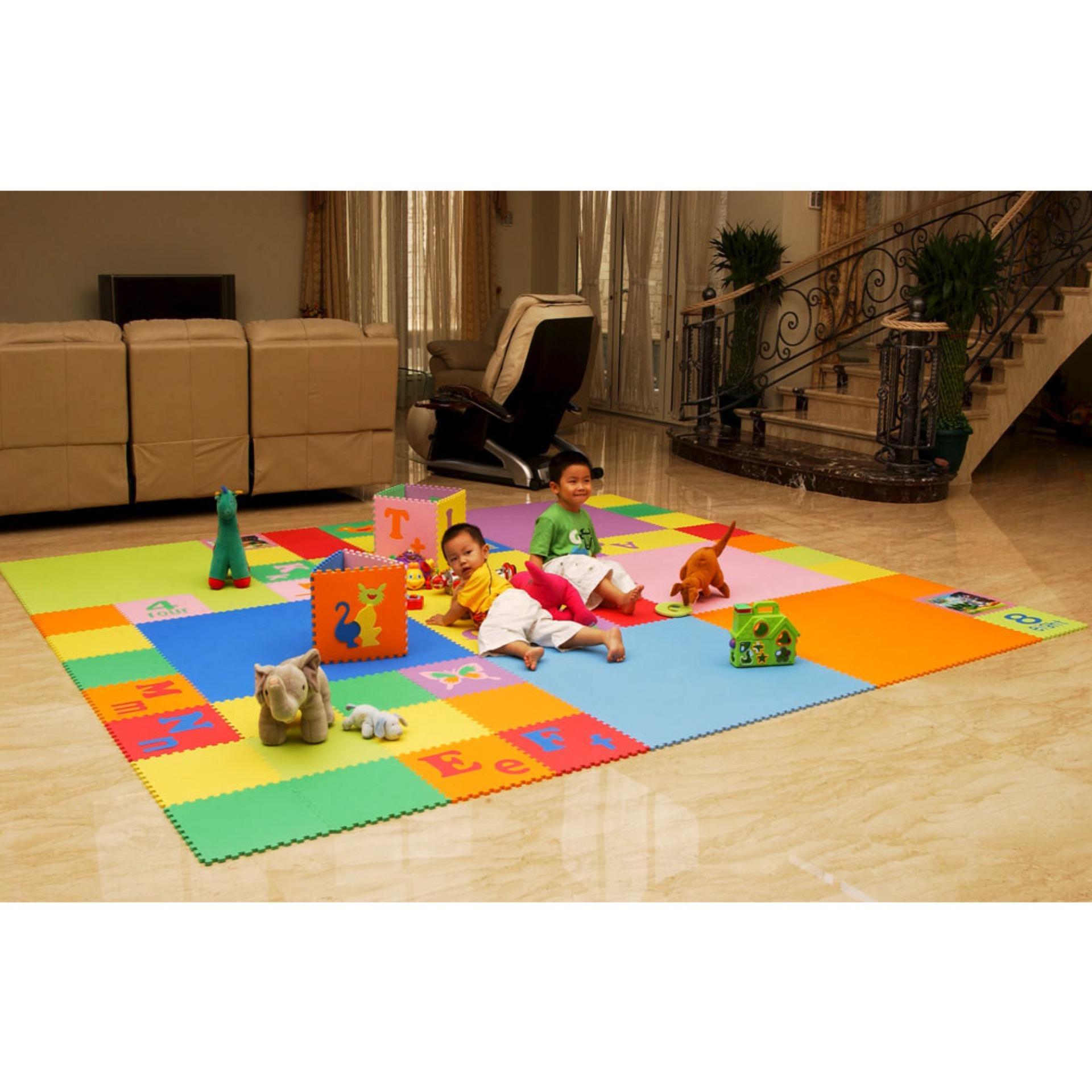 Evamat Polos Matras Tikar Karpet Puzzle Alas Lantai Evamatukuran 30 Evamats Motif Bunga Evamatic Modern Mats Aman Untuk Anak Bermain