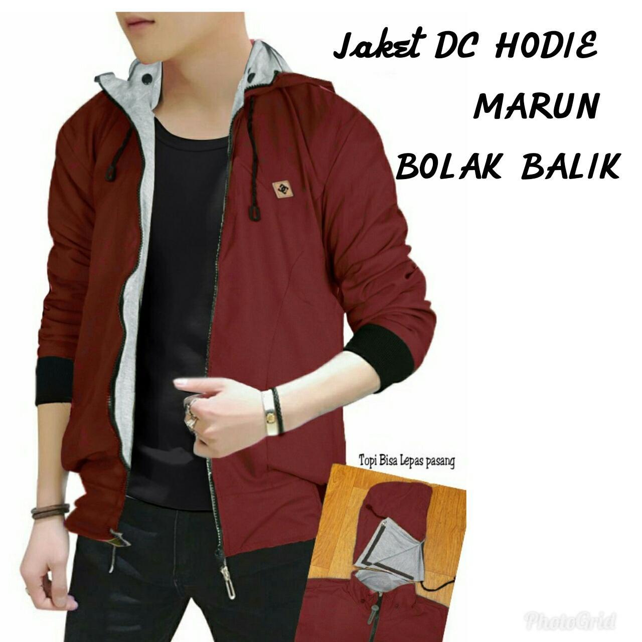 Jakarta Couple - Jaket Pria Bomber DC / Jaket 2in1 / Jaket Keren / Atasan Pria /Jaket Bolak Balik