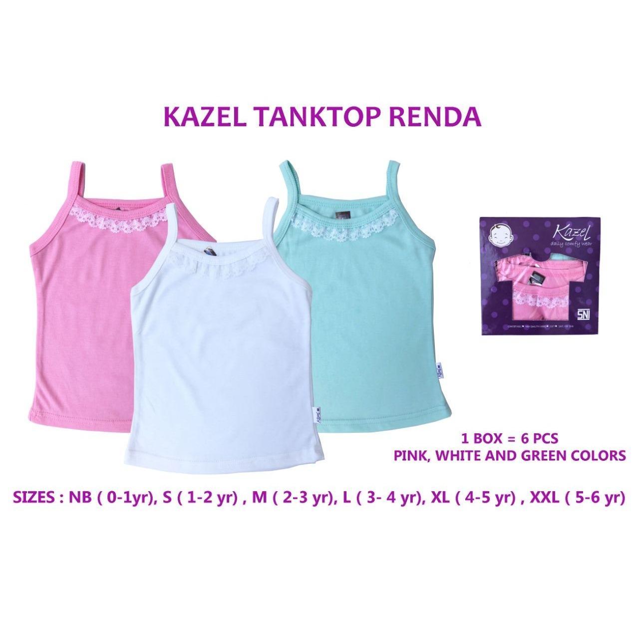 Spesifikasi Kazel Tanktop Renda Kaos Dalam Anak Perempuan Isi 6 Bagus