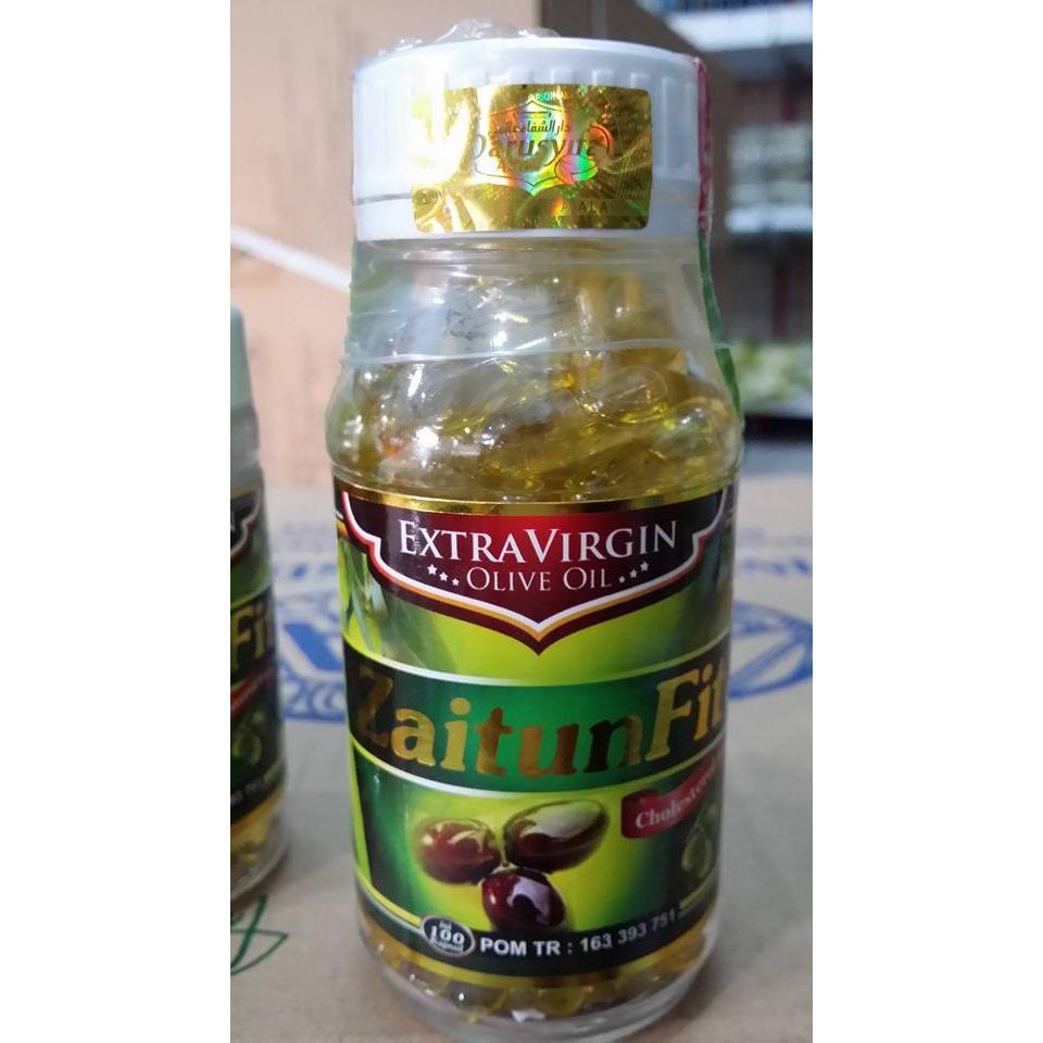 Minyak Zaitun Tursyna Extra Virgin Olive Oil 200 Kapsul 2 Botol Fit Isi 100