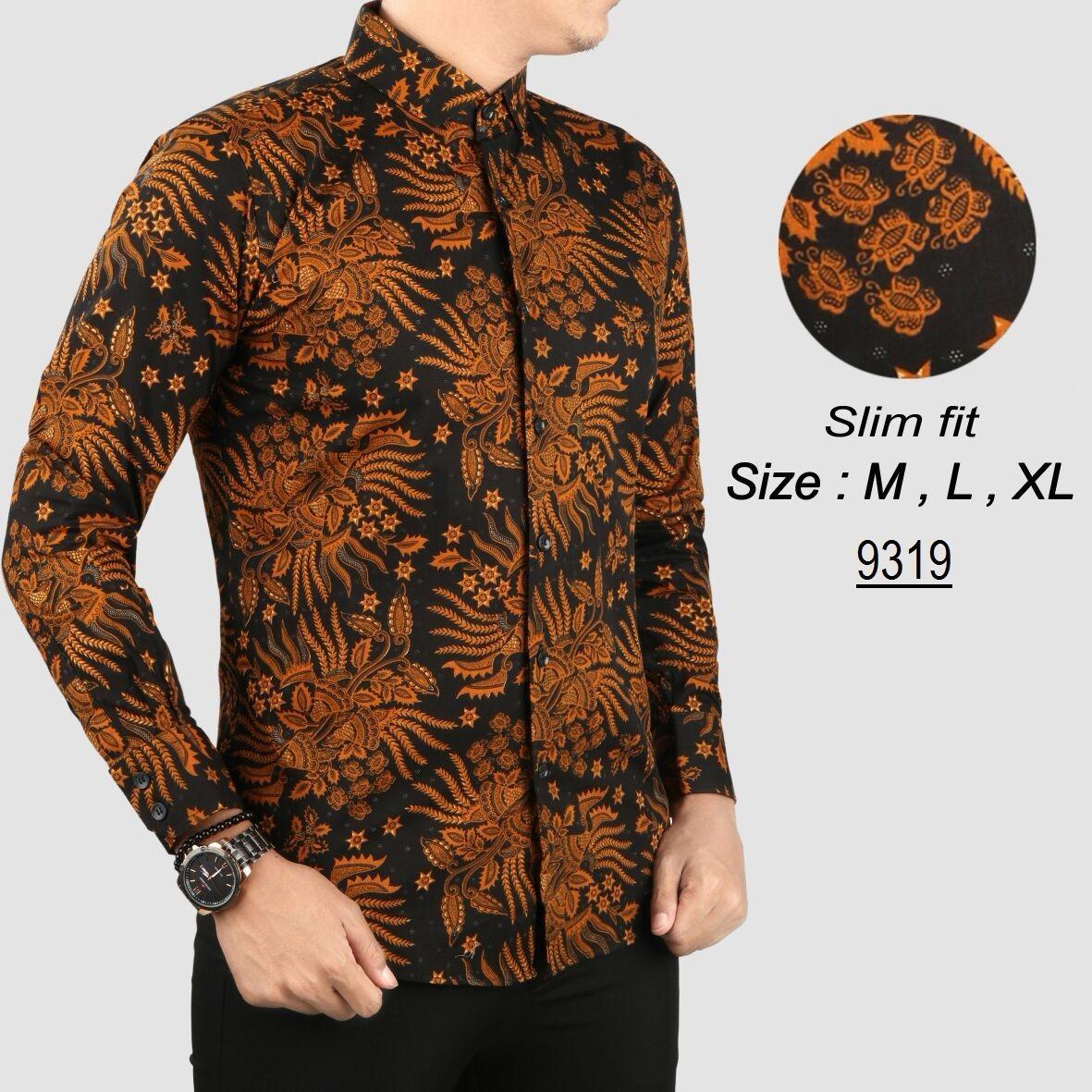 Spesifikasi Baju Batik Modern Kemeja Pria Slim Fit H9319 Beserta Harganya