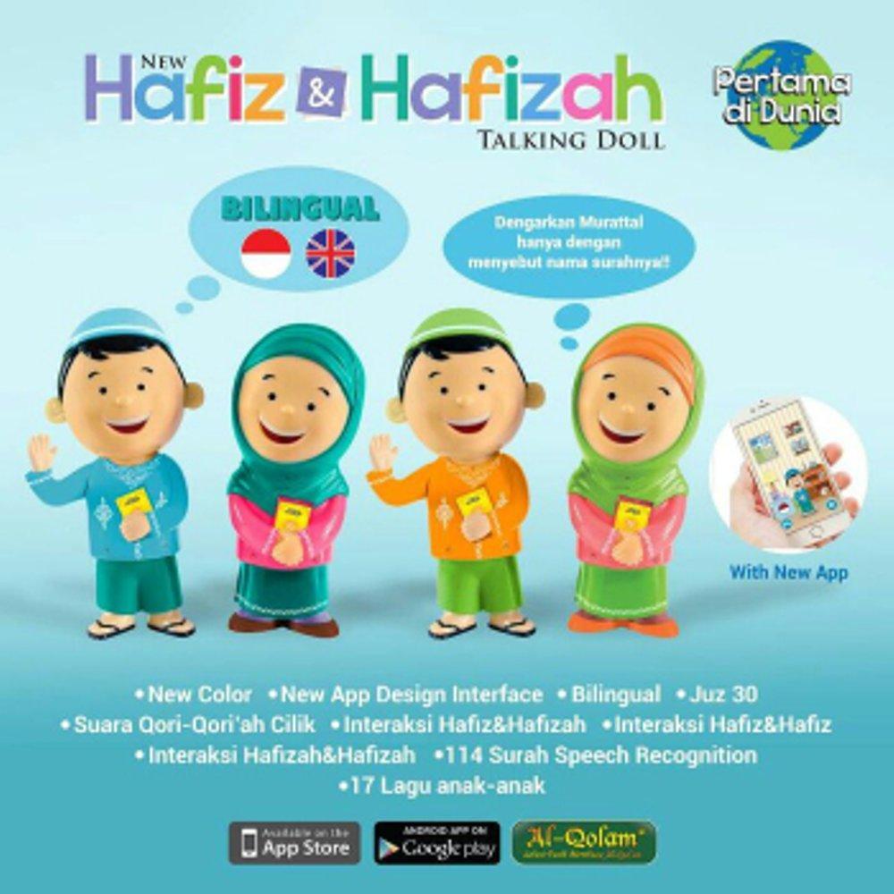 ... Hafiz Hafizah Talking Doll Bilingual New Version - Boneka Mengaji Hafiz Hafizah Original Terbaru Al Qolam ...