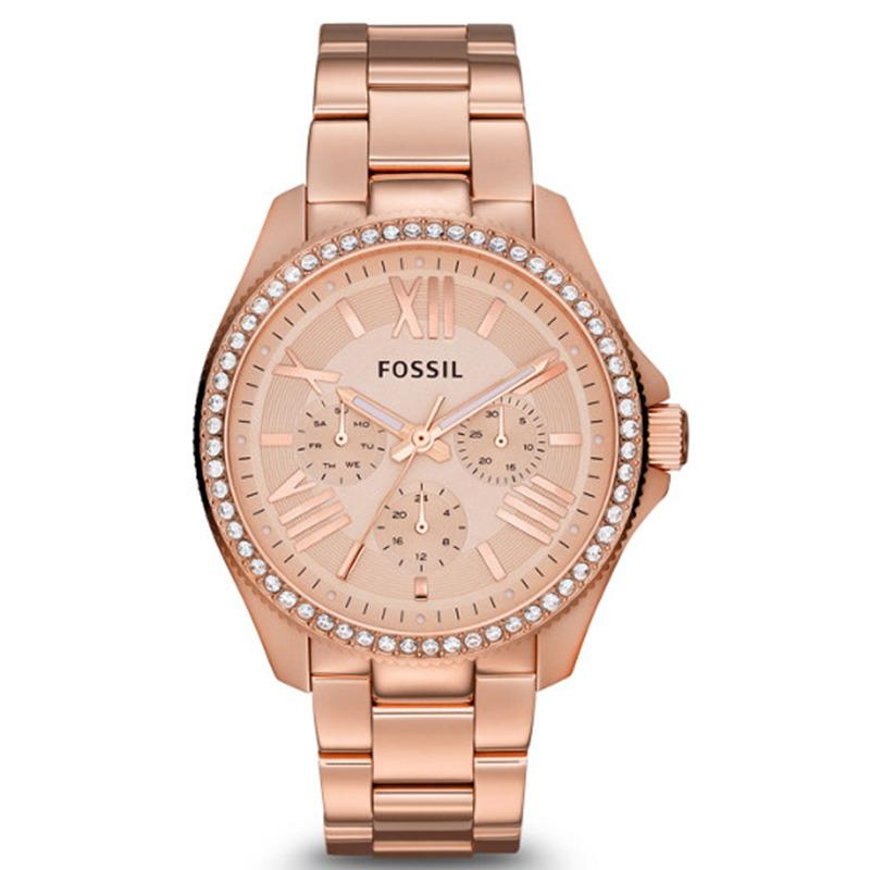 Situs Review Fossil Cecile Chronograph Jam Tangan Wanita Stainless Steel Rosegold Am4483