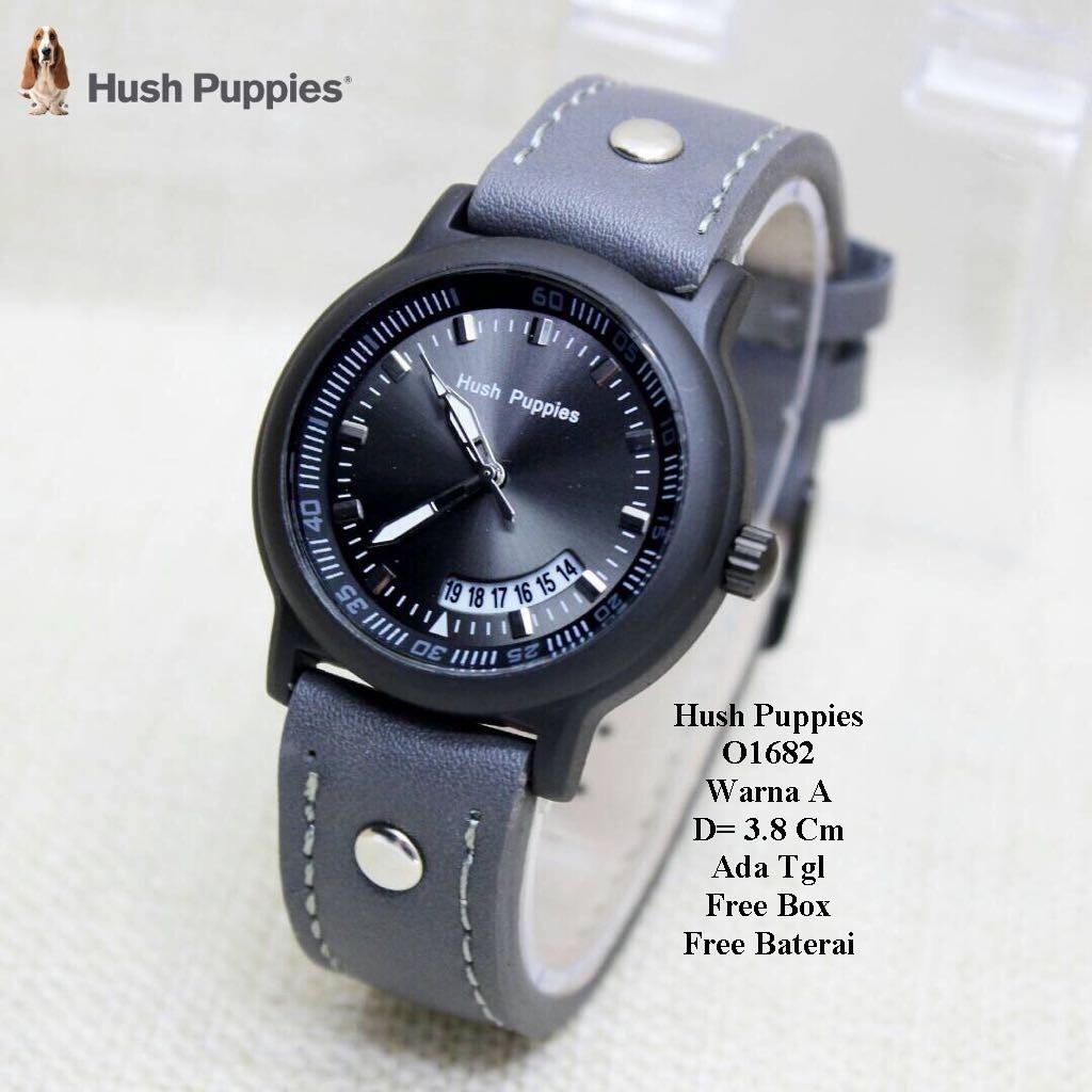 Lihat Jam Tangan Wanita Hush Puppies Leather Strap Dengan Tanggal Aktif