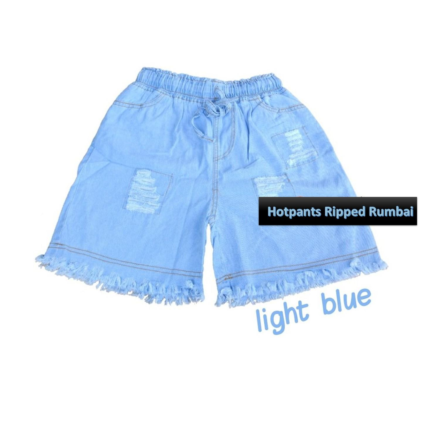Baby Talk Club Celana Pendek Hotpants Ripped Rumbai Jeans Wanita Celana Jeans Wanita Fashionable Women