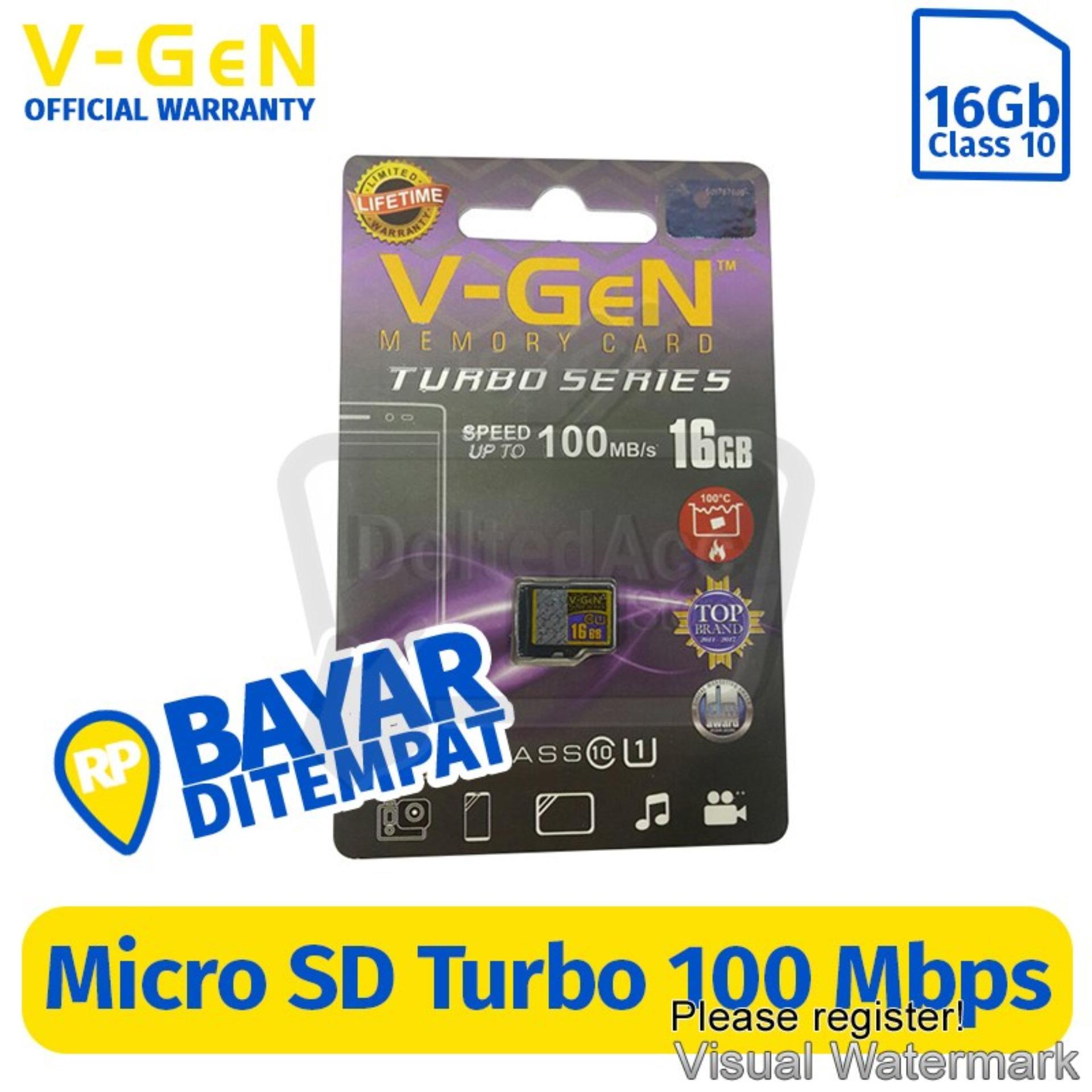 Detail Gambar V-Gen Micro SD Turbo Series 16 GB Class 10 (Non Adapter) Terbaru