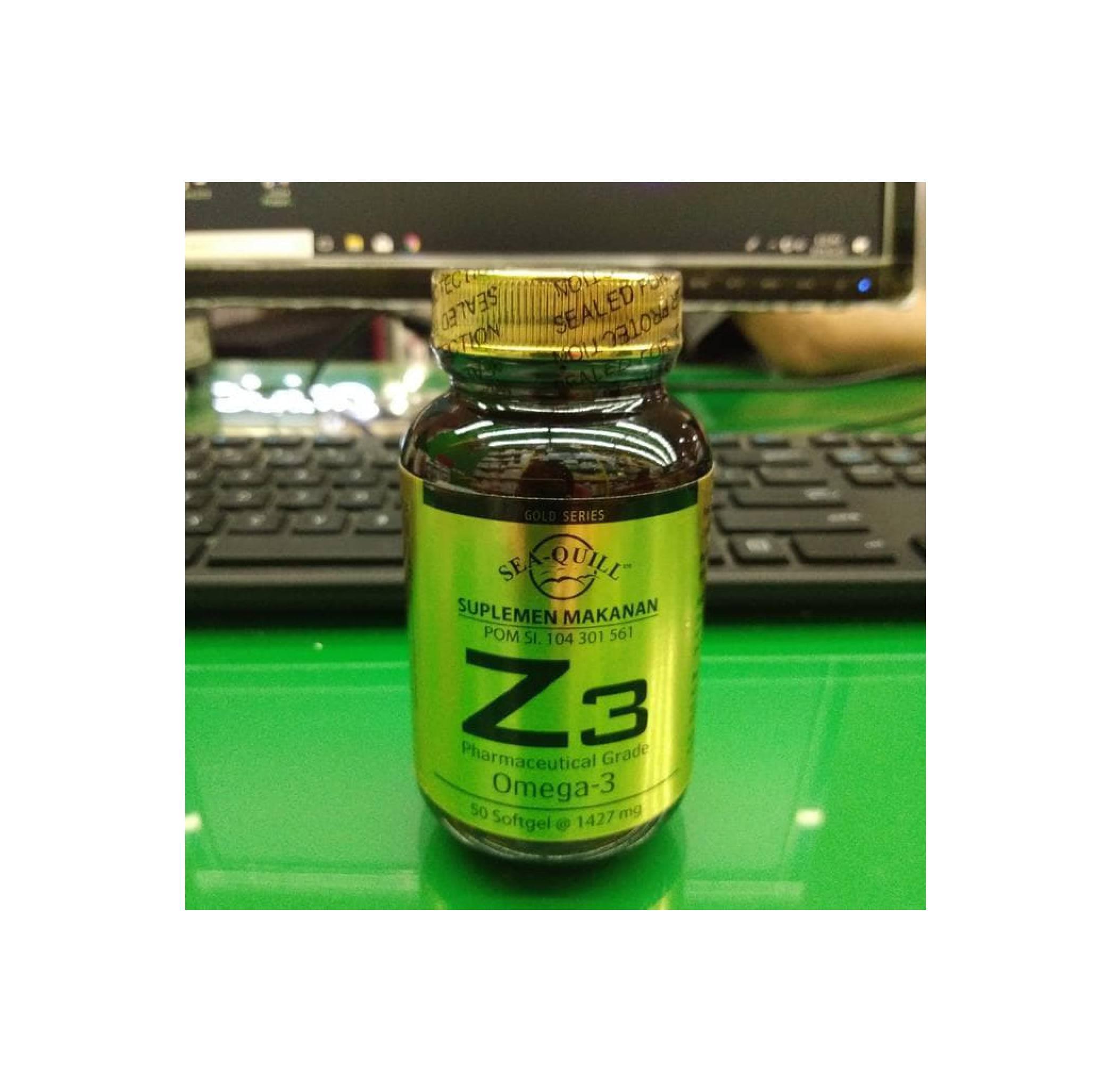 Sea Quill Omega Z3 Gold Series 50 Softgels Spec Dan Daftar Harga Sedafit Relafit Suplemen Makanan 3 Isi Softgel