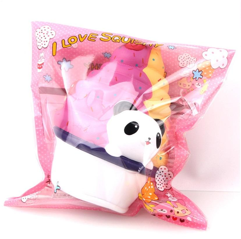 MAINAN ANAK squishy panda ice cream PU slow rebound SANQI ELAN JUMBO