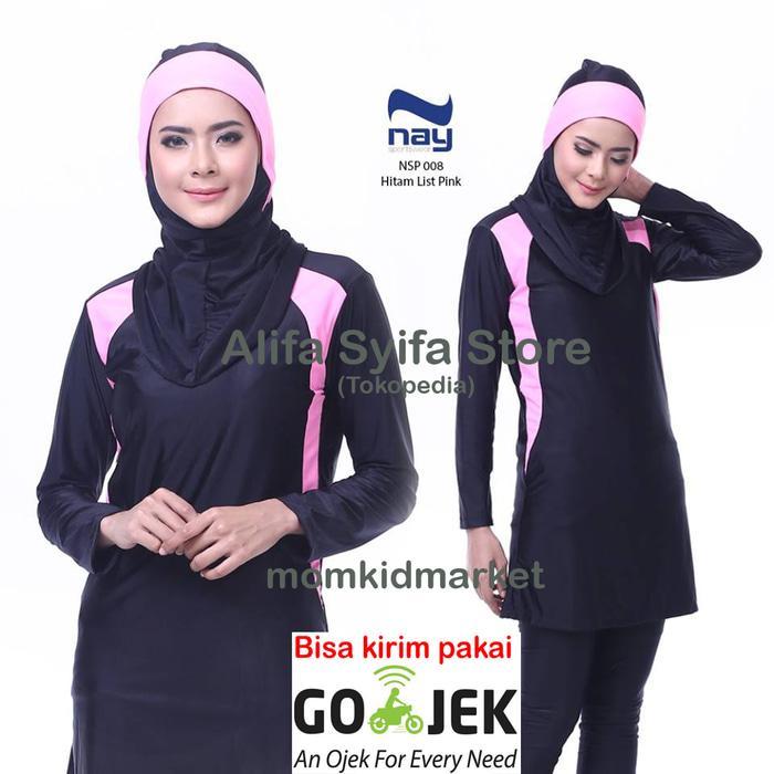Baju Renang Wanita Muslim Muslimah Premium Dewasa NAY NSP-008-Pink