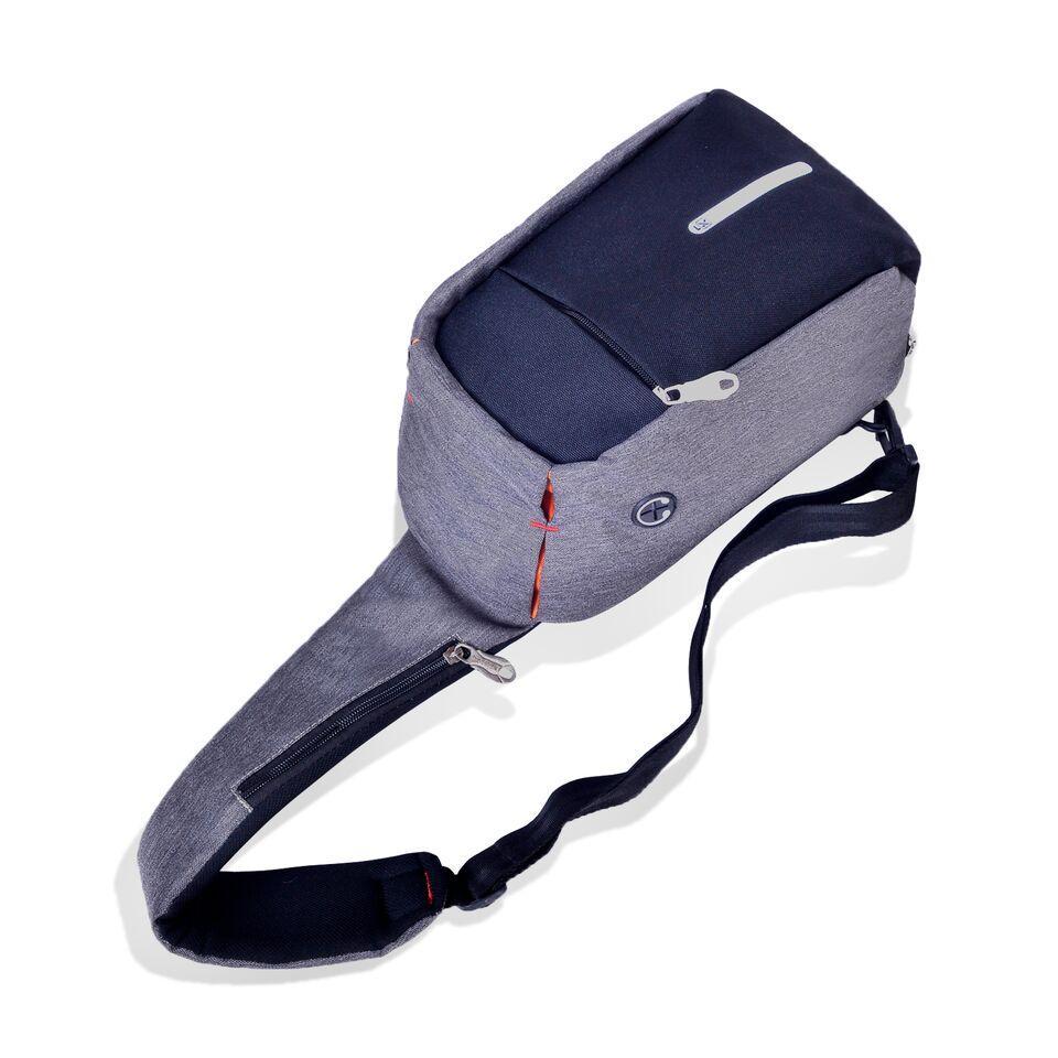 Cek Harga Baru Key Bag Tas Slempang Pria Anti Maling Chest Selempang Thief Water Proof Smart Crossbody Theft Hole Hands Free1205