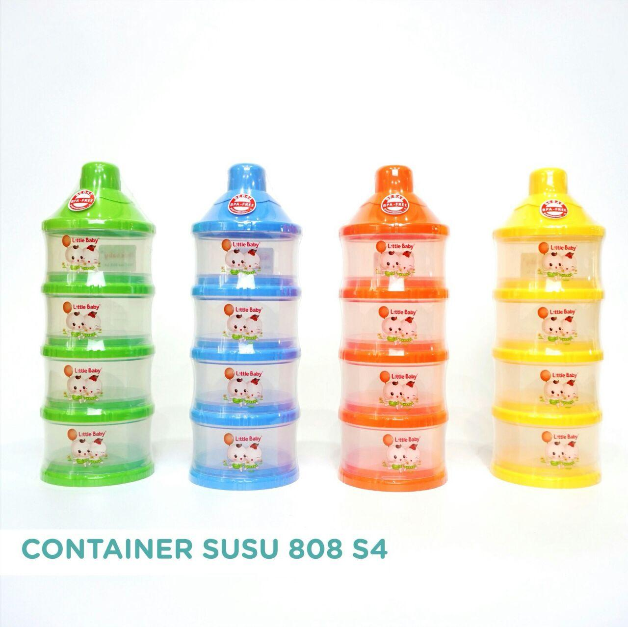 LITTLE BABY MILK POWDER CONTAINER/ KONTAINER TEMPAT SUSU BUBUK 4 SUSUN FREE BUBBLE