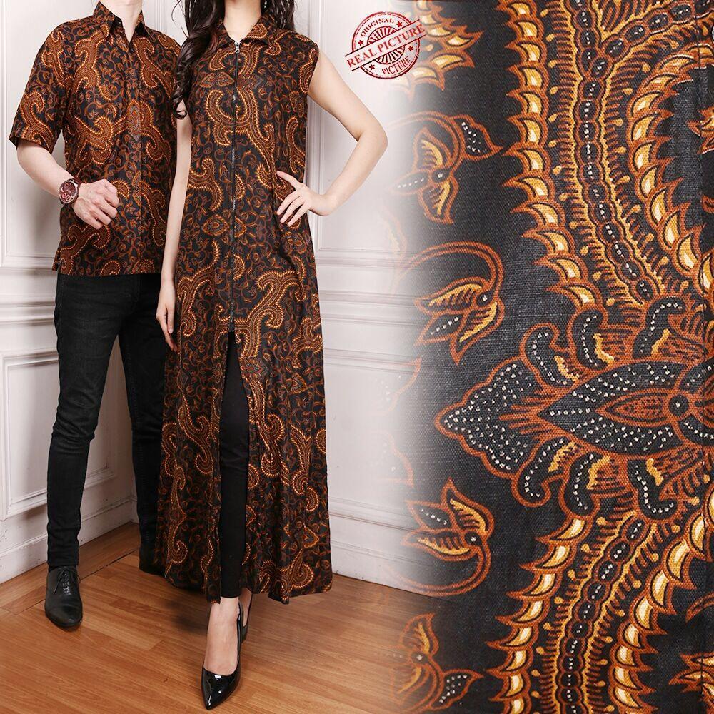 Diskon Uc Couple Kemeja Batik Pria Muslim Kebaya Kutubaru Modern Prada Lengan Pendek 2 Layer Mlxl 168 Collection Gamis Longdress Taylor Dan