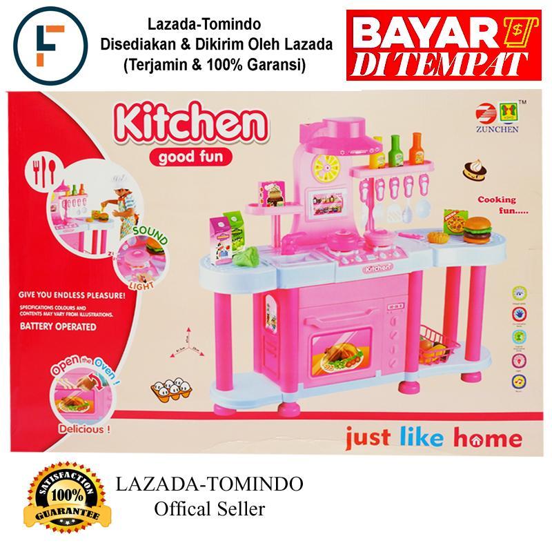 Tomindo Kitchen Good Fun PINK / mainan masak masakan / mainan dapur dapuran / mainan anak