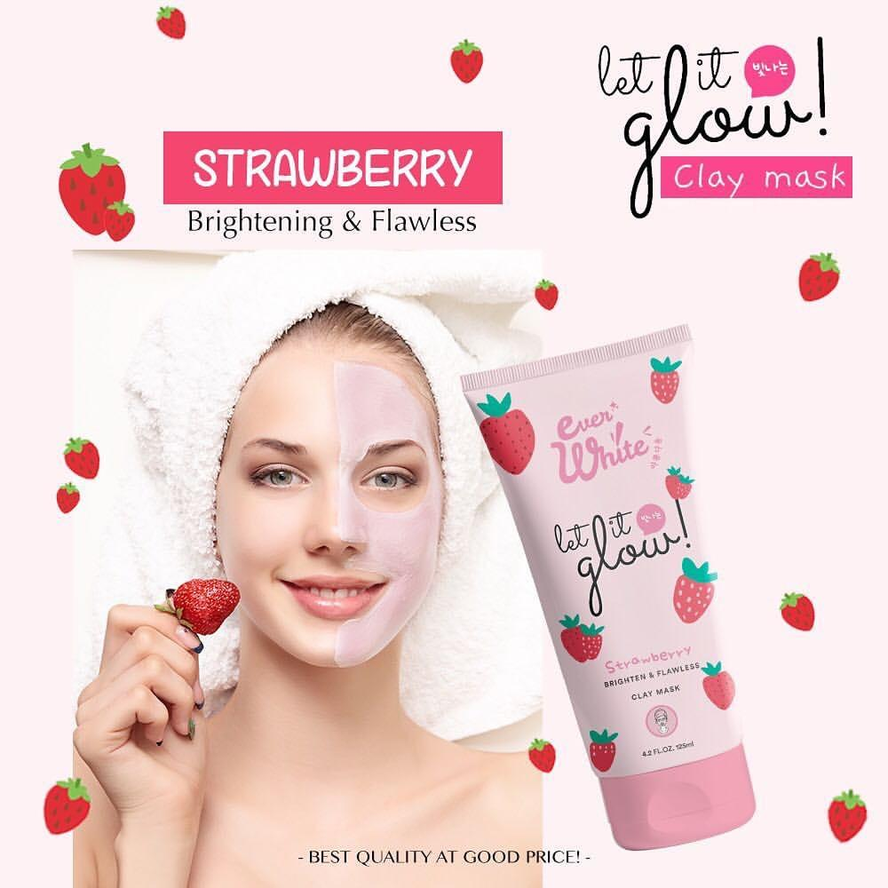 Everwhite Clay Mask Strawberry - Masker Wajah by Ever White