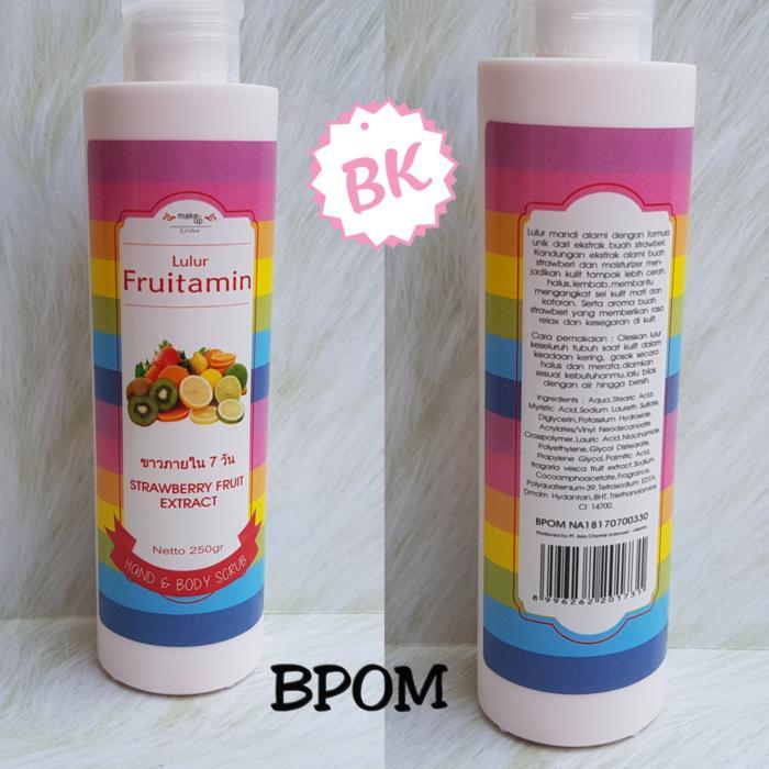 LULUR FRUITAMIN BPOM / BODY SCRUB FRUITAMIN BPOM