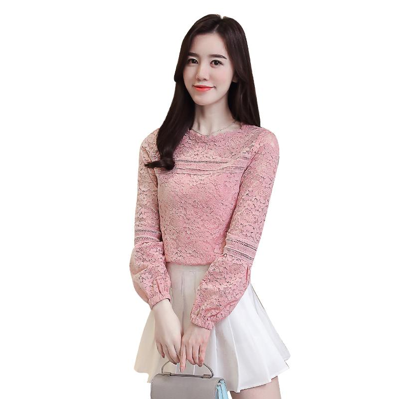 Jfashion Korean Style Blus with Necklace Short Sleeve. Source · Wild long sleeve lace bottoming