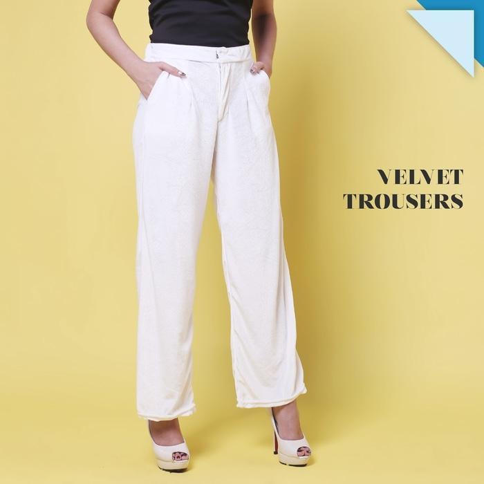 ... Velvet Trousers Celana Panjang Premium Wanita JP204 - 3 ...