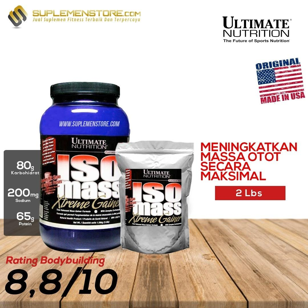 Spesifikasi Ultimate Nutrition Iso Mass Xtreme Gainer Ecer Repack 2Lb Merk Ultimate Nutrition