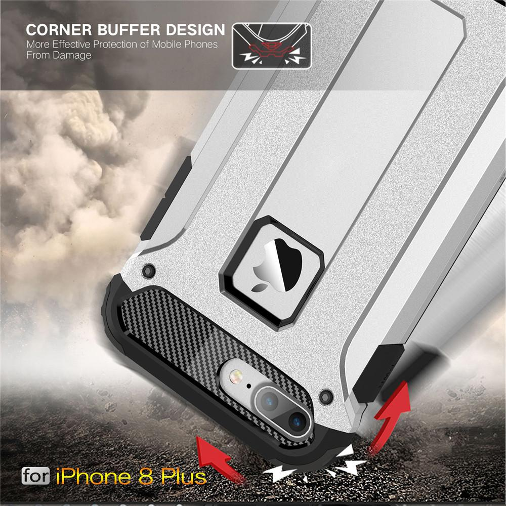 Fitur Lenuo Case For Iphone 8 Plus Hybrid Shell Armor Rugged Tpu Philips Mixer With Stand Hr1559 Grey Detail Gambar Hard Plastic Anti Knock Shockproof Back Cover Ip 8plus Terbaru