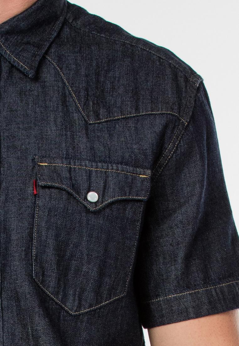 Fitur Levis Classic Western Shirt Dark Denim Rinse Dan Harga Terbaru Jaket Dnd Detail Gambar